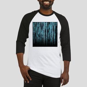 Digital Rain - Blue Baseball Jersey
