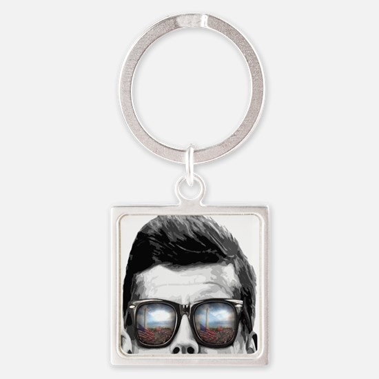 Remember... JFK Square Keychain