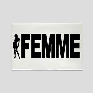 Femme Rectangle Magnet