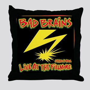 Bad Brains Live at the Fillmore 1982 Throw Pillow