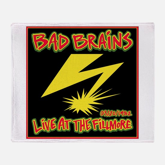 Bad Brains Live at the Fillmore 1982 Throw Blanket