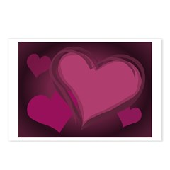 Valentine's Day Postcards 8 Pk Hearts Love Gifts