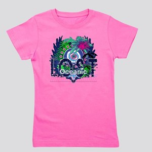 Oceanic Logo with Palm Trees and Hearts Girl's Tee