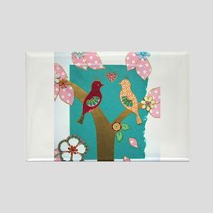 Lovebirds signed artwork Magnets