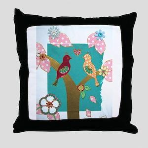 Lovebirds signed artwork Throw Pillow