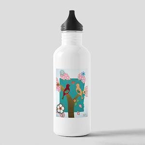 Lovebirds signed artwork Sports Water Bottle