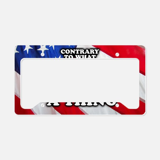 Nobody Owes You A Thing W/ Fl License Plate Holder