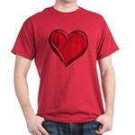 Red Heart T-Shirt Black, Or Dark Heart T-shirts