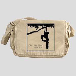 I Like to hang around Aerial Yoga Messenger Bag