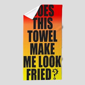 Fried Beach Towel