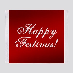 Happy FESTIVUS™ Fancy Red Throw Blanket
