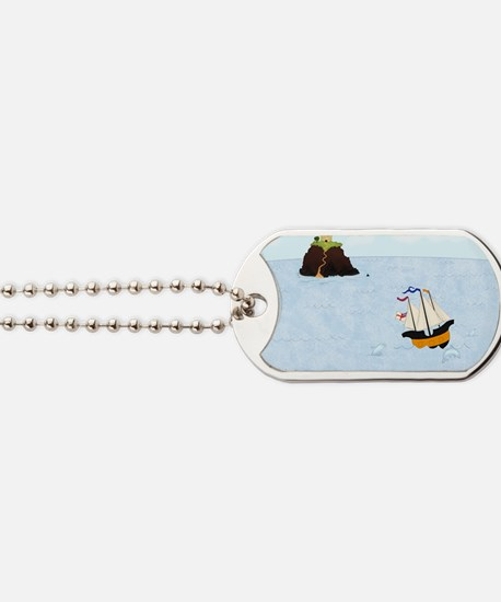 Sailing by the Castle Dog Tags