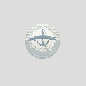Blue Anchor Mini Button