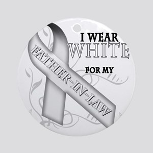 I Wear White for my Father-In-Law Round Ornament
