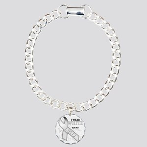 I Wear White for my Dad Charm Bracelet, One Charm