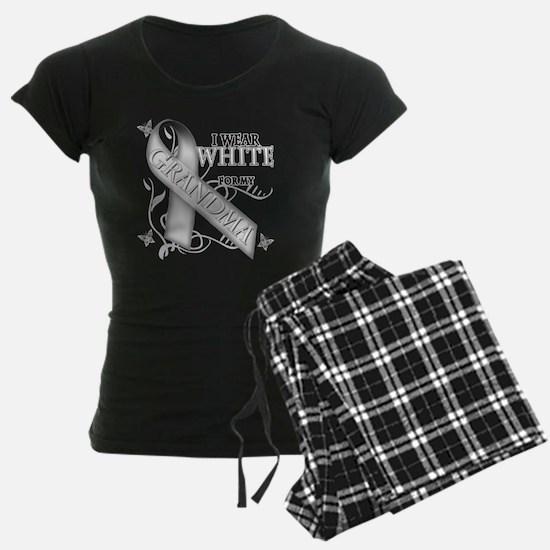 I Wear White for my Grandma Pajamas
