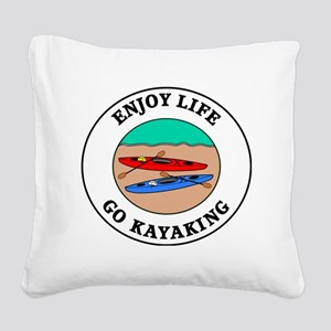 kayaking1 Square Canvas Pillow
