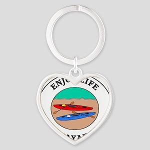 kayaking1 Heart Keychain