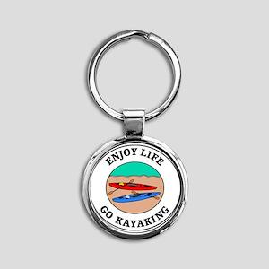 kayaking1 Round Keychain