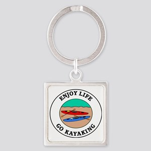 kayaking1 Square Keychain
