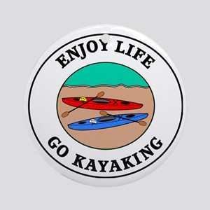 kayaking1 Round Ornament
