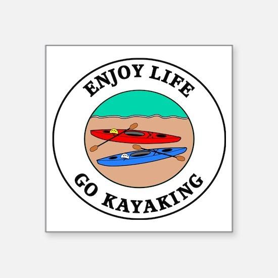 """kayaking1 Square Sticker 3"""" x 3"""""""