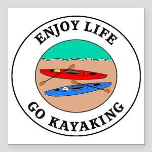 """kayaking1 Square Car Magnet 3"""" x 3"""""""