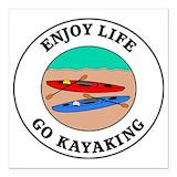 Kayaking Square Car Magnets