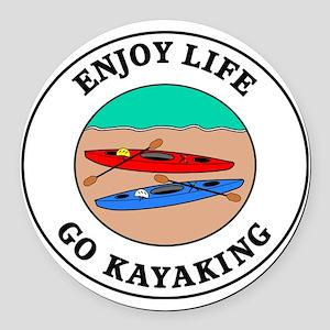 kayaking1 Round Car Magnet
