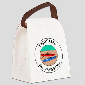 kayaking1 Canvas Lunch Bag