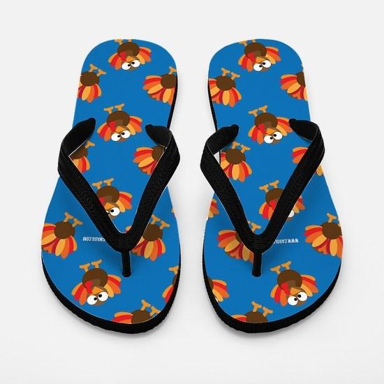 Thanksgiving Turkey Flip Flops