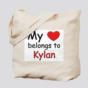 My heart belongs to kylan Tote Bag