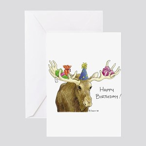 Birthday Moose Greeting Cards