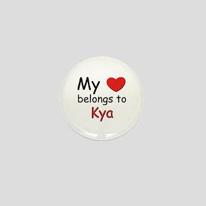 My heart belongs to kya Mini Button