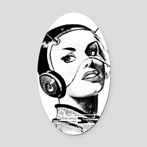 Spacegirl Oval Car Magnet