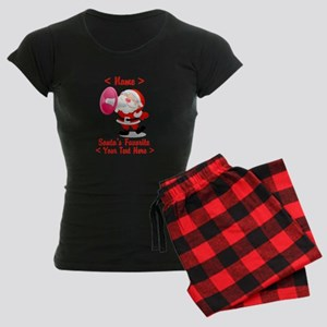 Personalize Santa's Favorite Your Text Women's Dar