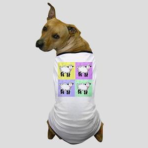 Wobbly Lamb Square Pop Art Dog T-Shirt