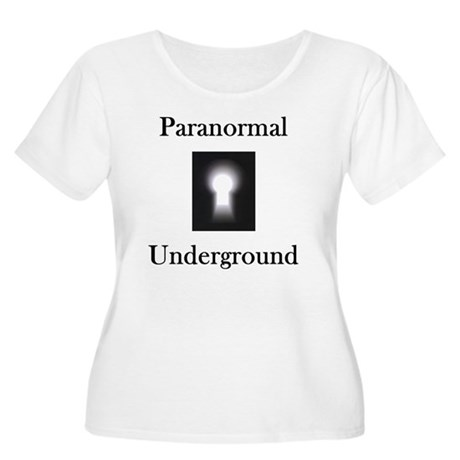 2-on black Women's Plus Size Scoop Neck T-Shirt