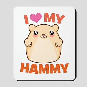 I Love My Hammy Mousepad