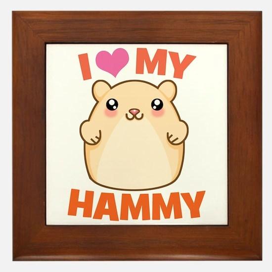 I Love My Hammy Framed Tile