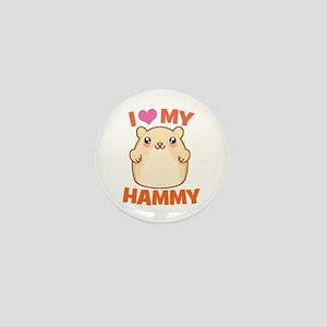 I Love My Hammy Mini Button
