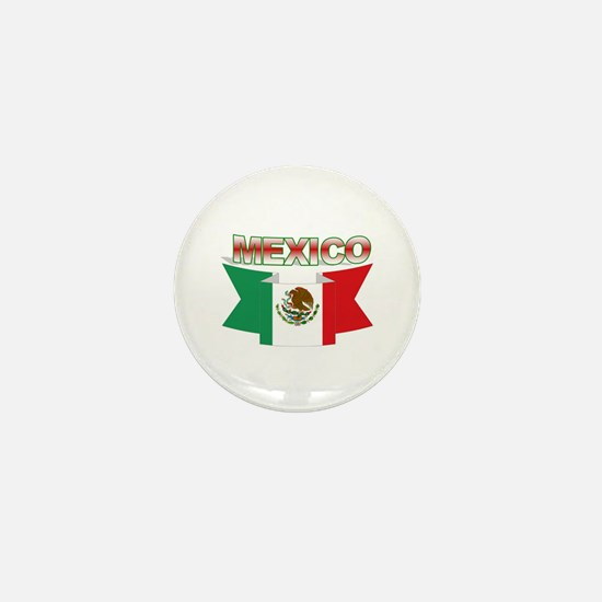 flag Mexico ribbon Mini Button