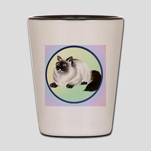 Himalayan Kitty-Circle Shot Glass