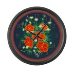 Poppies Large Wall Clock