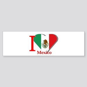 I love Mexico Bumper Sticker