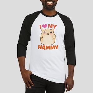 I Love My Hammy Baseball Jersey