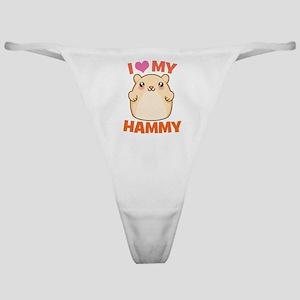 I Love My Hammy Classic Thong