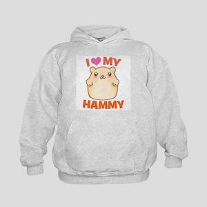 I Love My Hammy Kids Hoodie
