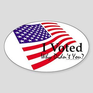 nIvotedFlag4LT Sticker (Oval)