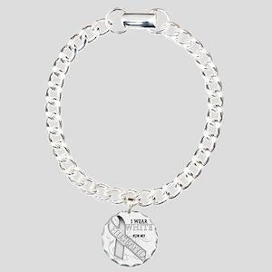 I Wear White for my Husb Charm Bracelet, One Charm